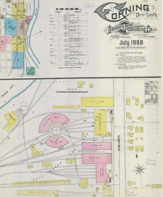 Sanborn Insurance Maps Of Corning Corning New York The Crystal